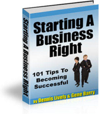 *NEW!* 101 Tips To Becoming Successful - Starting a Business ebook