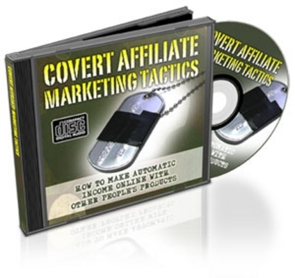 *NEW!* Covert Affiliate Marketing Tactics W Resale Rights Audio Course