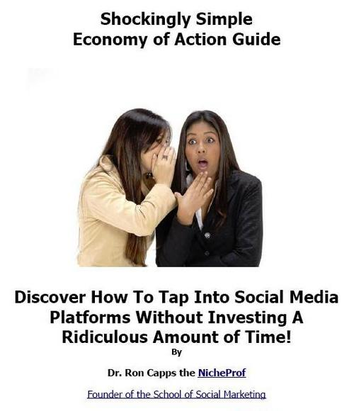 Pay for  *NEW!* Shockingly Simple Economy of Action Guide by Dr. Ron