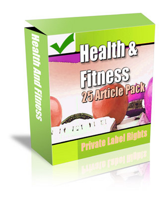 87215530 Healthandfitness *NEW!* 25 PLR Articles Health and Fitness   Private Label Rights