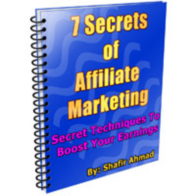 8746087 coverimage *NEW!* 7 Secrets Of Affiliate Marketing   MRR E Book Secret Techniques To