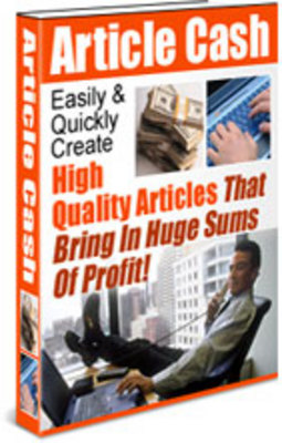 Pay for *NEW!* Article Cash - Easily Create High Quality Article PLR