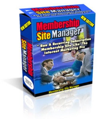 *NEW!* Membership Site Manager With Master Resale Rights