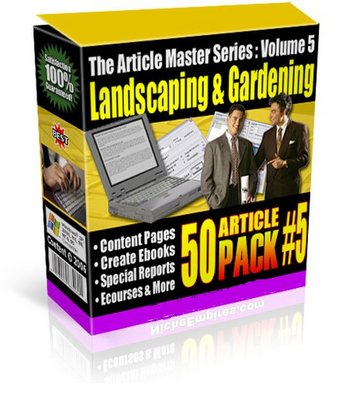 Pay for *NEW!* 50 Landscaping Gardening Private Label Articles PLR