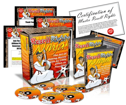 *NEW!* Resell Rights Ninja With Master Resell Rights (mrr)