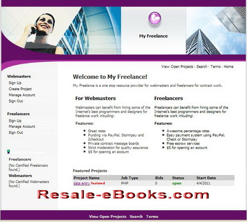 Pay for *NEW!* Freelancers Services Script With Master Resell Rights