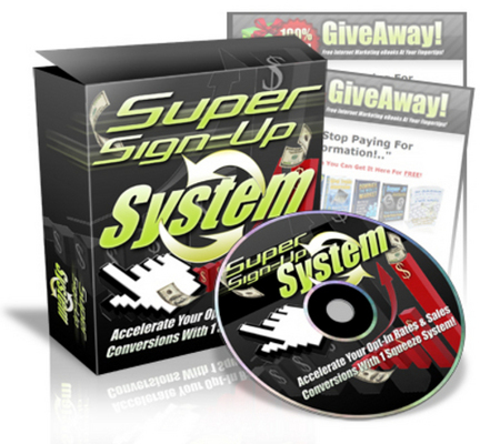 Pay for *NEW!* Super Sign Up System - Master Resell Rights