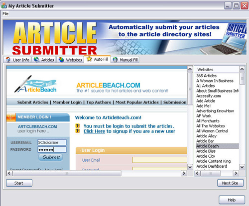 Pay for *NEW!* Article Submitter With Master Resale Rights
