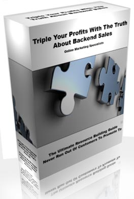 Pay for *NEW* The  Whole Truth About Backend Sales -  How I Increased My Only Profits 10 Fold  In Just 15 Days By Discovering  -MASTER RESALE RIGHTS