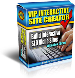 Pay for *NEW!*	 VIP Interactive Site Creator - MASTER RESALE RIGHTS |  Build Interactive SEO Niche websites