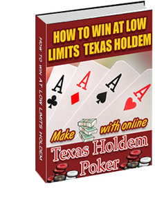 *NEW!* How to win at Low Limits Texas Holdem  - RESALE RIGHTS | Simple Strategies to Make you Money