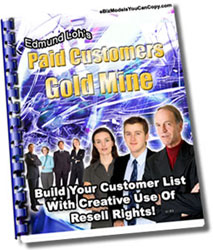 *NEW!* Paid Customers Gold Mine  MASTER RESALE RIGHTS   Building Your Customer