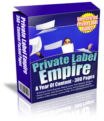 *NEW!*  Private Label Empire - 1200 PLR Articles -Build Your Own Information Pr