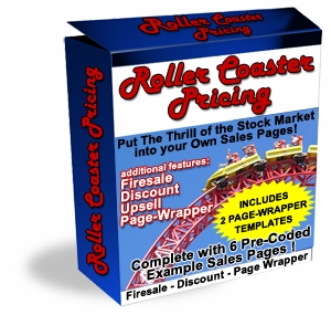 Pay for  *NEW!*	   Roller Coaster Pricing Script  - Master Resale Rights | Put The Thrill of the Stock Market Into your Own Sales Pages!