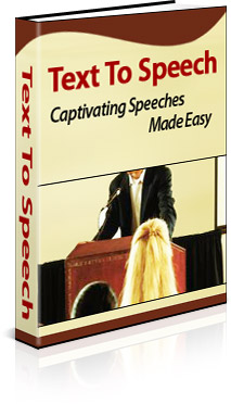 Pay for *NEW*  Text To Speech:  Captivating Speeches Made Easy | Resell Rights