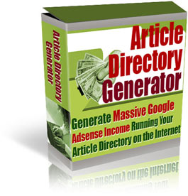 Pay for *NEW!*  Article Directory Generator - PRIVATE LABEL RIGHTS | Generate Massive Google Adsense Income Running Your Own Article Directory on the Internet