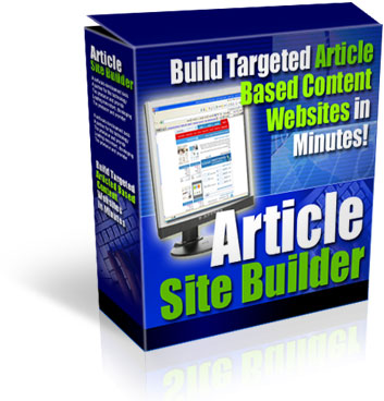 Pay for *NEW* Article Site Builder - Build Targeted Article Based Content Websites In Minutes -