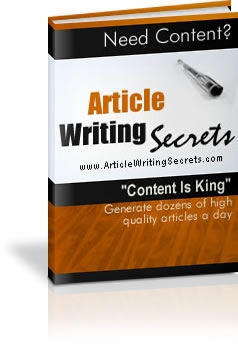 *NEW!* Article Writing Secrets - Resale Rights | The Easy, Proven And Way To Pump Out High Quality Articles