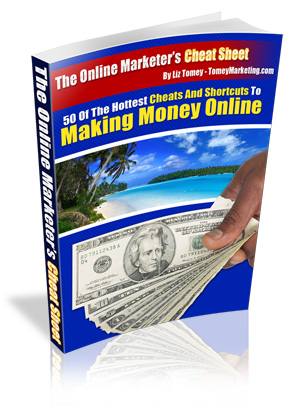 Pay for *NEW!*  The Online Marketers Cheat Sheet - Liz Tomey - MASTER RESALE RIGHTS