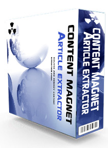 contentmagnet *NEW!* Content Magnet Article Extractor   MASTER RESALE RIGHTS | DESKTOP BASED