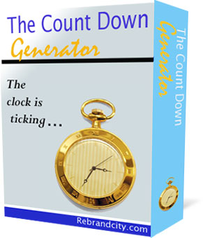 *NEW!*   The CountDown Generator  – Master Resale Rights