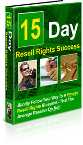 Pay for *NEW!* 15 Days To Resell Rights Success - MASTER RESALE RIGHTS | Own The 15 Day Reseller s Success Roadmap!