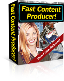 *NEW!* Fast Content Producer Software Program  How to Build Hundreds of Content Rich