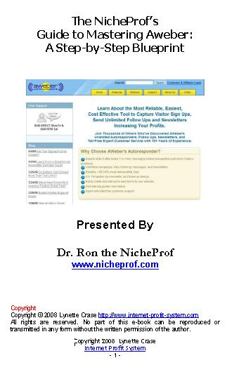 Thumbnail *NEW!*	   The NicheProf s Guide to Mastering Aweber:  A Step-by-Step Blueprint  - Master Resale Rights