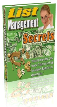 Pay for *NEW!*  List Building Management Secrets - MASTER RESALE RIGHTS |  Proven List Building & Management Strategies Revealed