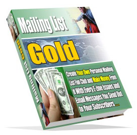 Pay for *NEW!*  Mailing List Gold - MASTER RESALE RIGHTS | Make Money With Every Way Possible From Your Mailing List At Cult Status!