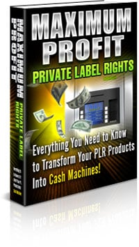 *NEW!*  Maximum Profit PLR | Turn Your Unique Private Label Rights Content Into