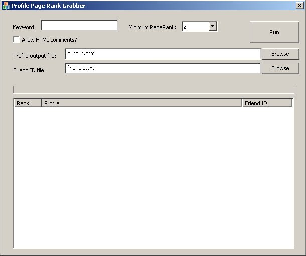 Thumbnail *NEW!*  MySpace High-Rank Profile Finder Software