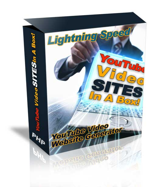 *NEW!*  Youtube Video Site Generator - Youtube Site in a Box   - MASTER RESALE RIGHTS