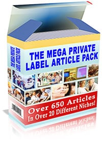 Pay for *NEW!*  The Mega Private Label Article Pack - MASTER RESALE RIGHTS