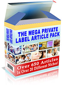 *NEW!*  The Mega Private Label Article Pack - MASTER RESALE RIGHTS