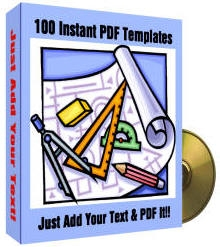 *NEW!* 100 Instant PDF Templates  Private Label Rights