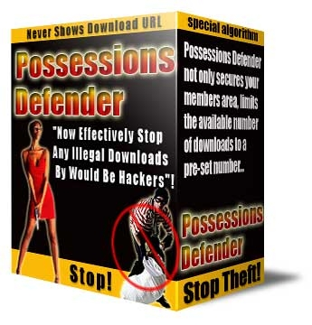 Pay for *NEW!* Possessions Defender - Resell Rights | Protecting Your Digital Software, Ebooks, Videos, Audios, PDF´s and Members Download Area