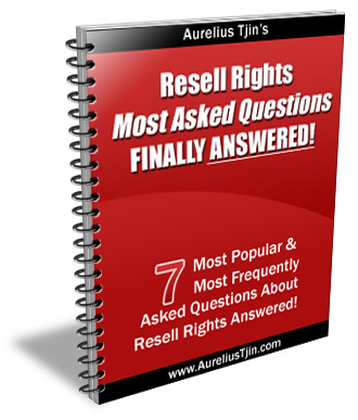 *NEW!* Resell Rights Questions Answered - Master Resale Rights