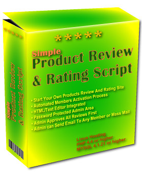 Pay for *NEW!*	 Simple Product Review & Rating Site Php Script  - MASTER RESALE RIGHTS