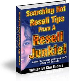 Pay for *NEW!* Scorching Hot Resell Tips From A Resell Junkie - MASTER RESALE RIGHTS