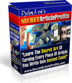Pay for *NEW!* Secret Article Profits |  Get Rich  Writing Articles Online