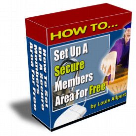 Pay for *NEW!*  How To Set Up A Secure Members Area - RESALE RIGHTS