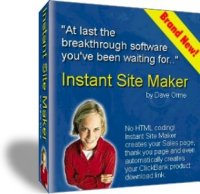 Pay for *NEW!*  Instant Site Maker | Create Web Pages in Just Clicks!