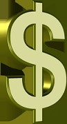 Thumbnail  *NEW!*	   Dollar Signs 3D  - Private Label Rights