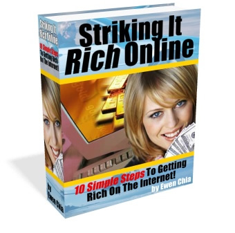 Pay for *NEW!* Instant Riches Without Work! Striking It Rich Online Internet Marketing Ebook - Affiliate Marketing