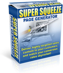 *NEW!*  Super Squeeze Page Generator  w Resell   New technology in list buildin
