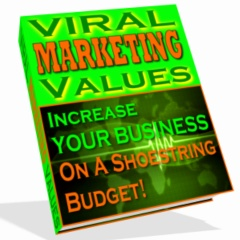 *NEW*  Viral Marketing Values - Increase Your Business on a Shoestring | Resale Rights