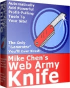 Pay for *NEW!* Web Army Knife | Instantly add the secret profit-pulling tools to your web site!