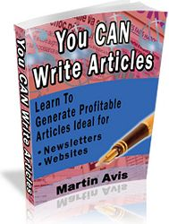 Pay for *NEW*  You CAN Write Articles  for Fun and Profit - Guaranteed!
