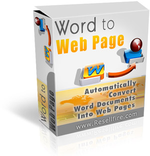 Pay for *NEW!* Word To Web Page - Resell Rights - Can Turn Your Dusty E-Books